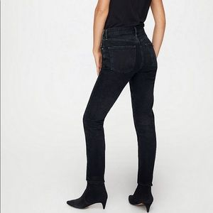 CITIZENS OF HUMANITY   Arley High Rise Straight Leg Jeans Black